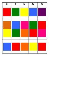Color Block Bingo - PREK FREEBIE!