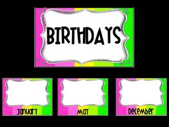 Color Block Birthday Posters
