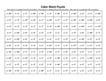 Color Block Puzzle-exponents