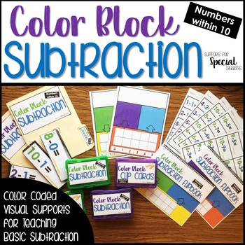 Color Block Subtraction - Color Coded Supports for Subtraction #warmupwithsped3