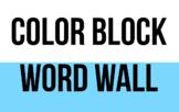 ELA Word Wall - Color Block
