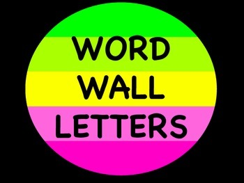 Color Block Word Wall Letters