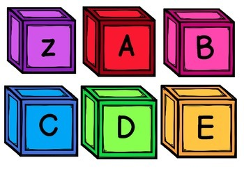 Color Blocks BUNDLE includes Dolch Sight Words, Letters, Numbers, and Colors.