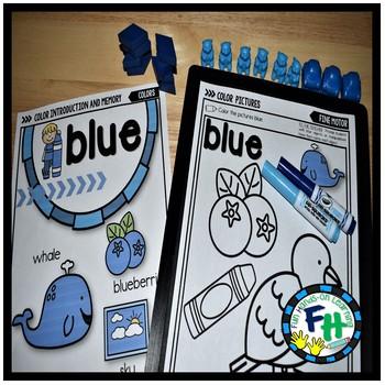 Color Blue Activity Pack
