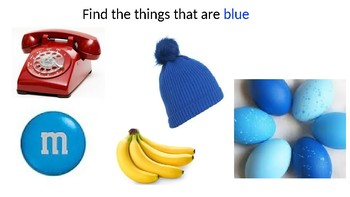 Color Blue- Editable Preschool Slideshow