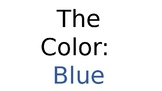 Color Blue- Editable Preschool Slideshow