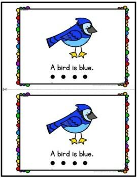 Color Blue Emergent Reader
