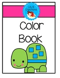 A Color Book Using Two Colors - Turtles