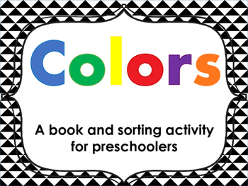 Color Book & Color Sorting Card Activity for Preschool FREE