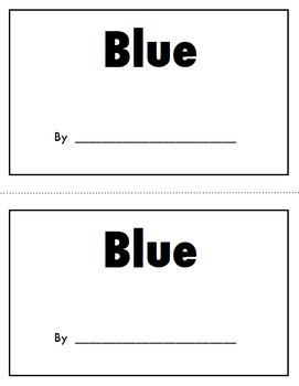 Color Book Emergent Reader:  BUNDLE of 12 Books!