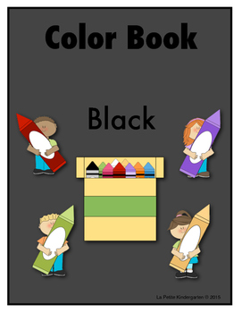 Color Book Emergent Reader:  Black
