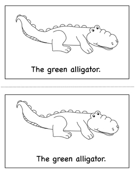 Color Book Emergent Reader:  Green