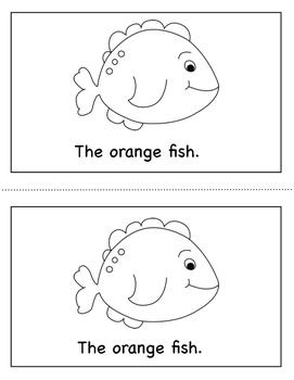Color Book Emergent Reader:  Orange