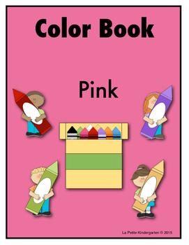 Color Book Emergent Reader:  Pink