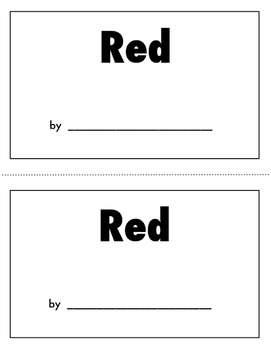 Color Book Emergent Reader:  Red