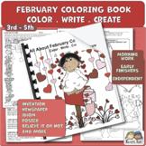 Color Book for February + Activities (Karen's Kids Printables)