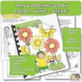 Color Book for May + Activities (Karen's Kids Printables)