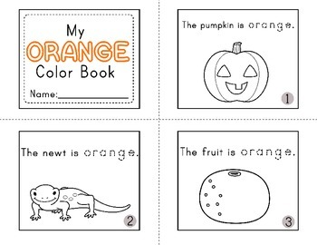 Color Booklets: Read, Trace and Color
