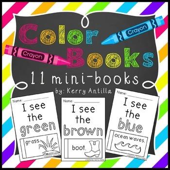 Color Books- 11 mini-books for learning colors