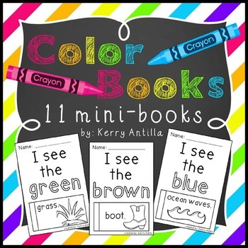 Color Books- 11 mini-books for learning colors
