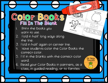 Color Books (fill in the blank)