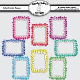 Color Bubble Frames Clip Art