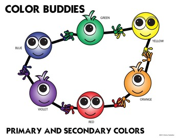 Color Buddies Color Mixing and Color Theory Posters and Coloring  Combo Pack