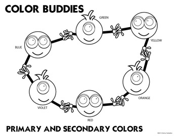 Color Buddies Color Theory Color MixingColoring Activities