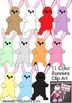 Color Bunny Clip Art - 11 Color Commercial Use Clip Art Images