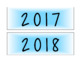 Color Burst Calendar 2017-2018 (Purple, Blue, & Green)