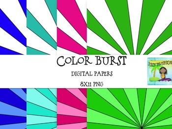 Color Burst Digital Background Papers