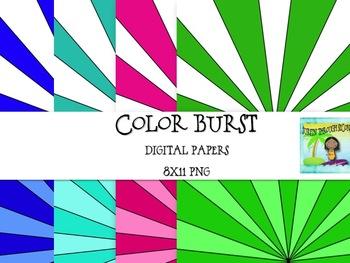 Color Burst Digital Background Papers