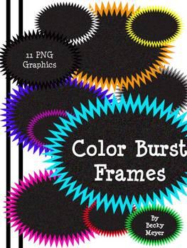 Color Burst Frames Clipart