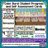 Color Burst Student Progress and Self-Assessment/Formative Check Cards