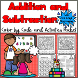 Color By 3 and 4 Digit Addition And Subtraction With Regrouping Color by Code
