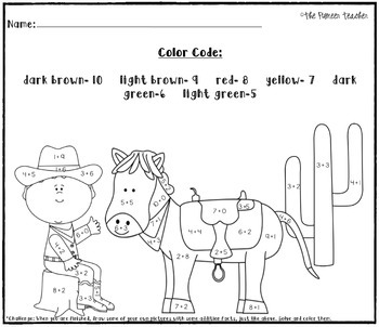 Color By Addition {5 Themed Worksheets}
