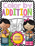 Color By Addition Problem-Spring Edition