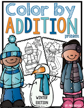 Color By Addition Problem-Winter Edition