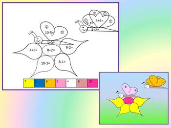 Color by Code - Addition and Subtraction end of the year activities