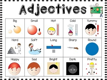 Color By Adjectives: Great for students with Autism, ABA, and more!
