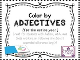 Color By Adjectives: Great for students with Autism, ABA,