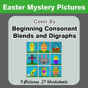 Color By Blends & Digraphs - Easter Mystery Pictures