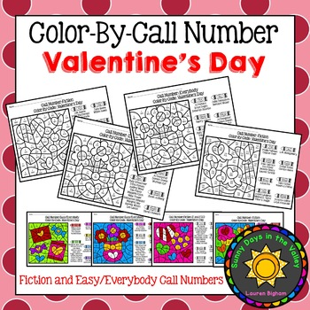 Color-By-Call Numbers -- Valentine's Day