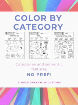 Color By Category- No Prep