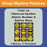 Color By Chemical Symbol, Atomic Number, Atomic Mass - Emo