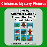 Color By Chemical Symbol, Atomic Number & Mass - Christmas