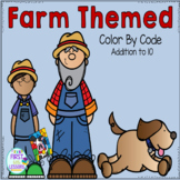 Color By Code Addition to 10 Farm Themed