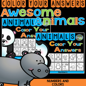 Color By Code Awesome Animals Know Your Numbers and Know Your Colors Bundle