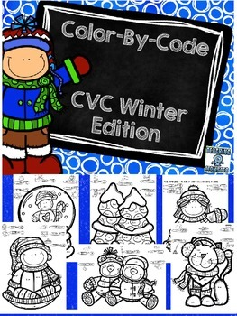 Color-By-Code CVC words, Winter edition