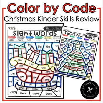 Color By Code Christmas